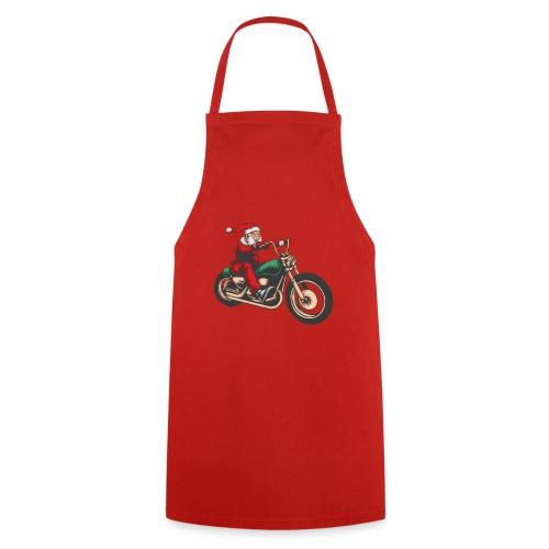 Cool Winter Christmas Santa Motor Biker - Cooking Apron