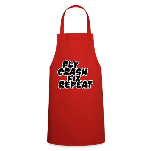 FlyCrashFixRepeat signed - Cooking Apron
