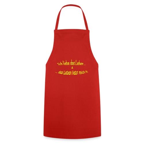 Ich-liebe-das-Leben-gelb - Kochschürze