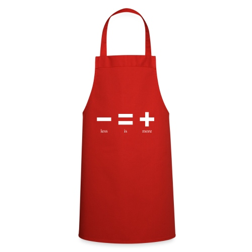 Less Is More WHITE - Cooking Apron