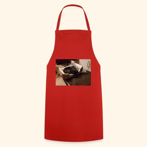 Hund im Hundekörbchen - Kochschürze