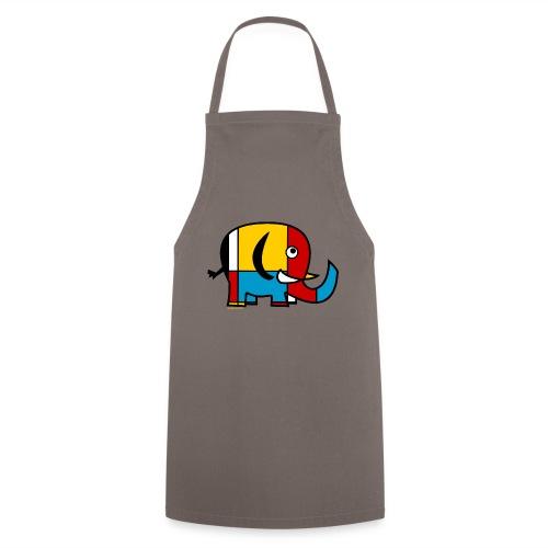 Mondrian Elephant - Cooking Apron