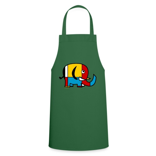 Mondrian Elephant - Cooking Apron