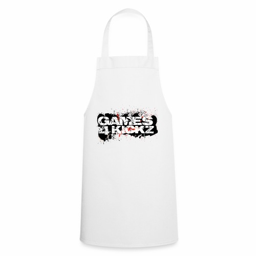 Games4Kickz Logo Splattered Background - Cooking Apron