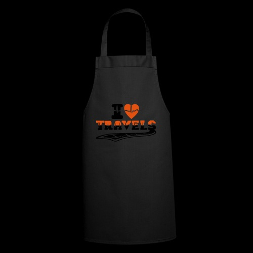 i love travels surprises 2 col - Cooking Apron
