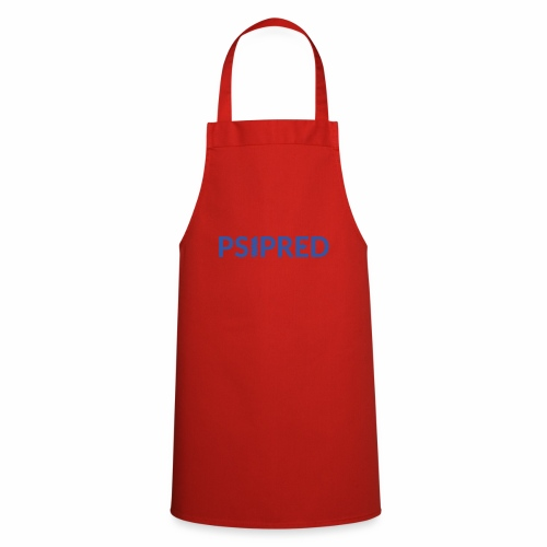 Logo in blue - Cooking Apron