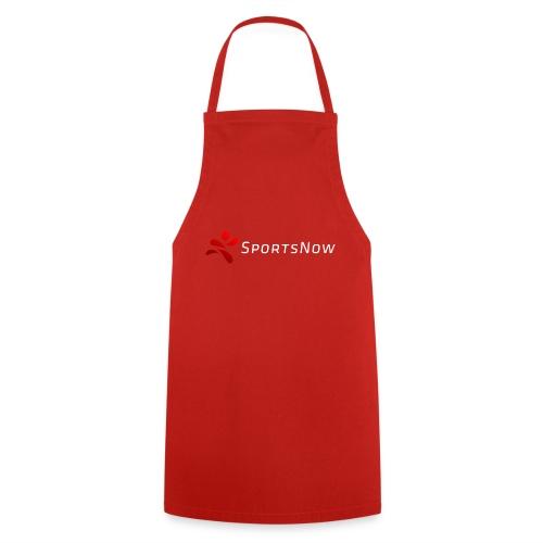 SportsNow-Logo mit weisser Schrift - Kochschürze