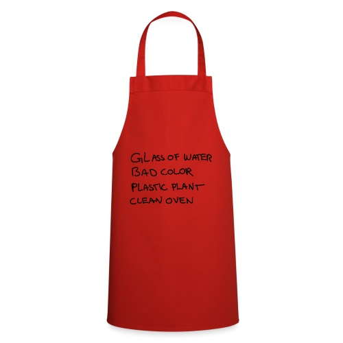 Glass Color Plastic Oven - Cooking Apron