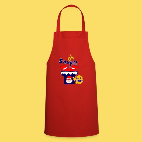 🎅😁Clumsy Santa Claus Stuck in the Chimney Upside - Cooking Apron