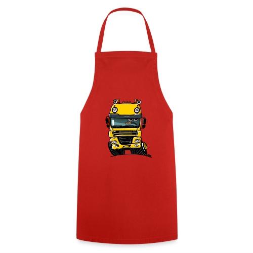 0810 D truck CF geel - Keukenschort