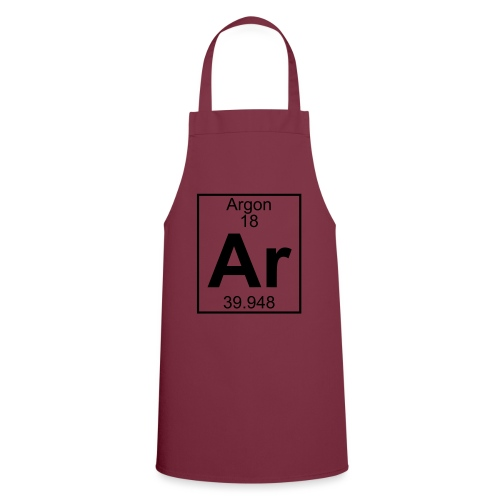 Argon (Ar) (element 18) - Cooking Apron
