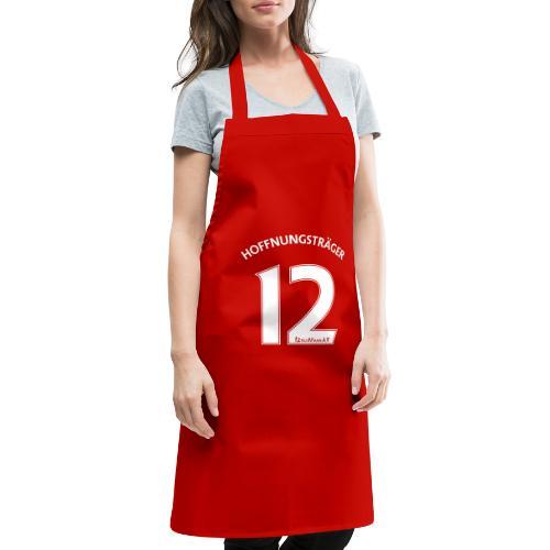 Rückennummer 12, weiß - Kochschürze