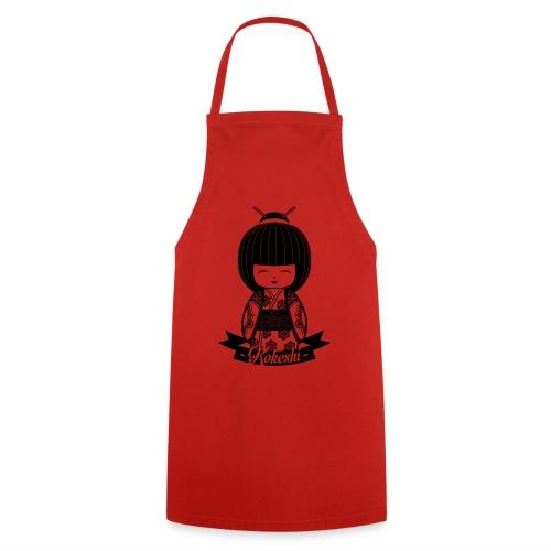 Kokeshi Black - Grembiule da cucina