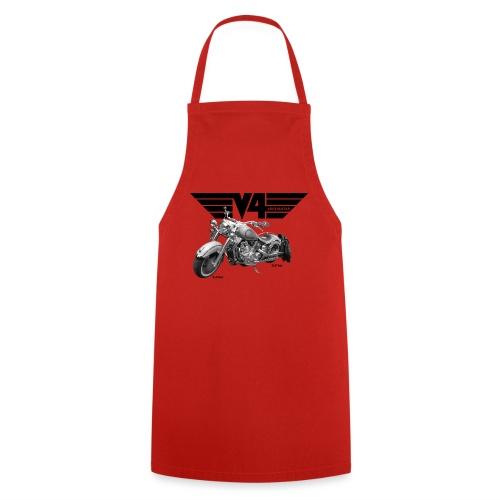 V4 Motorcycles black Wings - Kochschürze