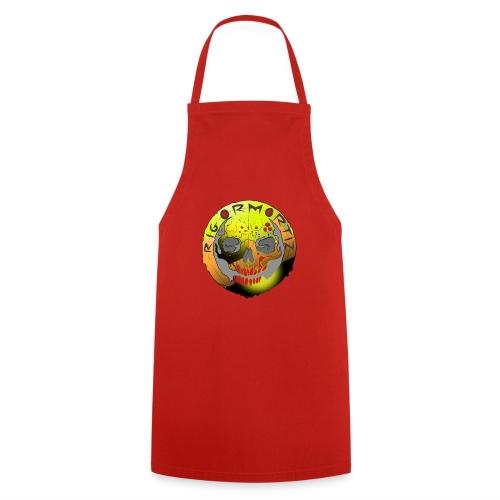 Rigormortiz Metallic Yellow Orange Design - Cooking Apron