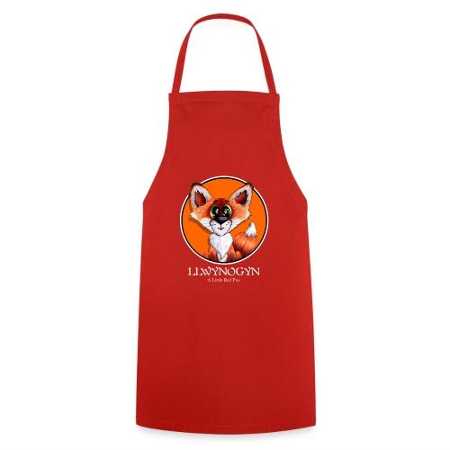 llwynogyn - a little red fox (white) - Cooking Apron