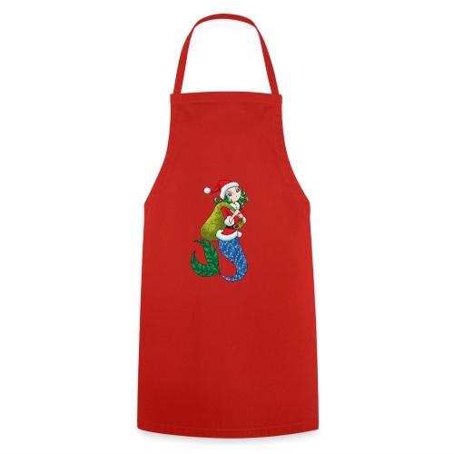 Meerjungfrau Weihnachtsmann Weihnachten Geschenk - Kochschürze