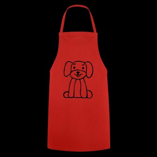 hund sitzt - Kochschürze
