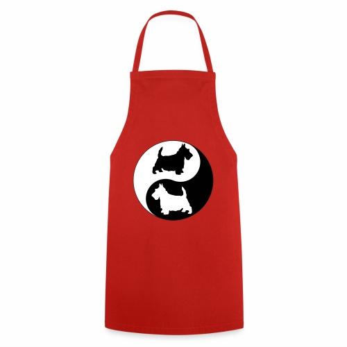 yin yang scotties the perfect balance - Cooking Apron