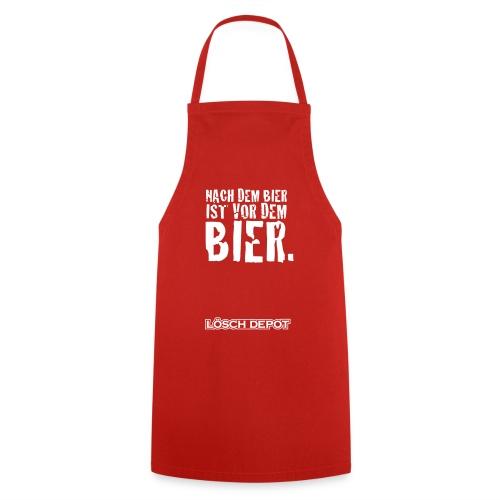 Schürze Löschdepot - Nach dem Bier! - Kochschürze