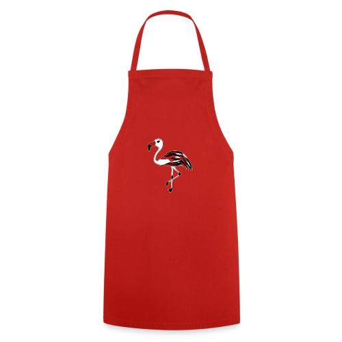 Flamingo schwarz-weiss - Kochschürze