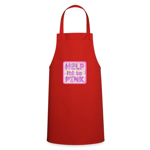 help its to pink - rosa text - Cooking Apron