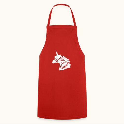 Cadeau de licorne rigolo disant calligraphie blanche - Tablier de cuisine