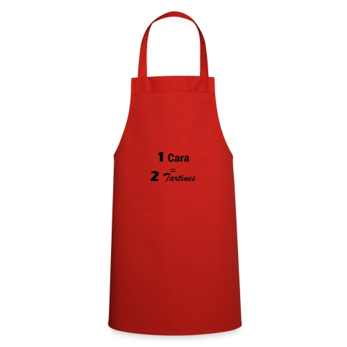 1 cara = 2 tartines - Tablier de cuisine