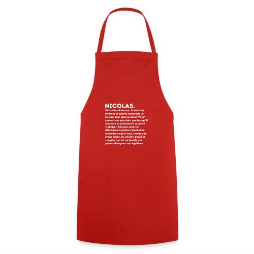 Nicolas prénom personnalité - Tablier de cuisine