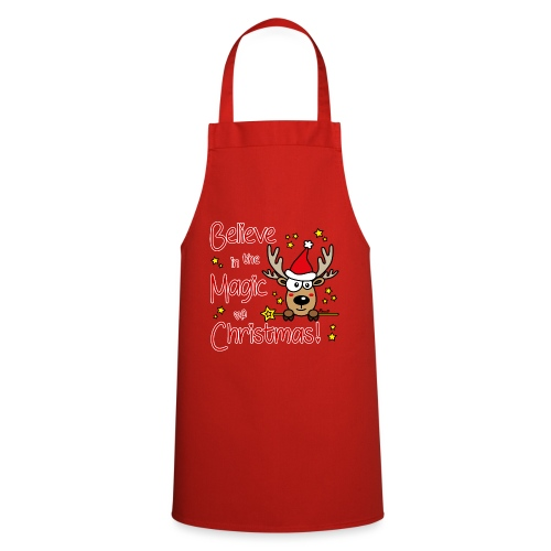 Renne, Magic of Christmas, Happy Christmas, Noël - Tablier de cuisine