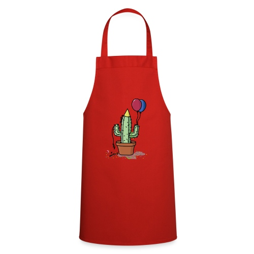Flowercontest cactus party - Keukenschort