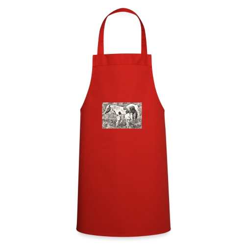 Pinto mit Fohlen - Kochschürze