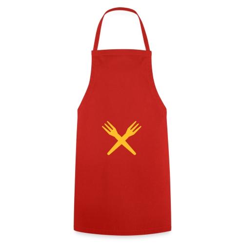 gekruiste frietvorken - trident - Tablier de cuisine