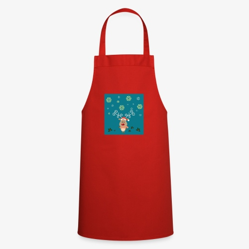 little deer blue background - Cooking Apron