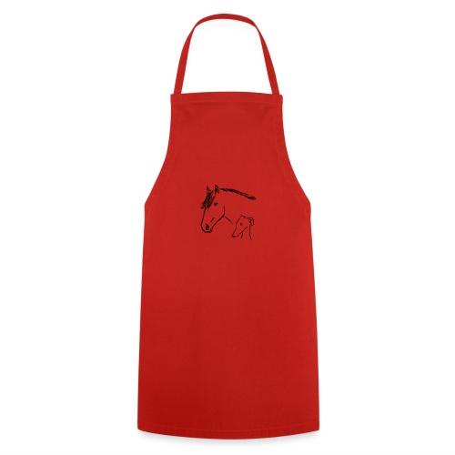 Windhund und Pferd - Kochschürze
