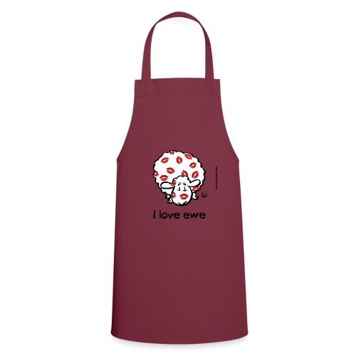 Kiss Ewe (I love ewe edition) - Cooking Apron