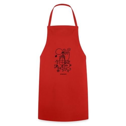 Joan Mirò, Figure e cane davanti al sole - Grembiule da cucina