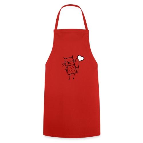 Katze mit Herz: Liebe - Kochschürze