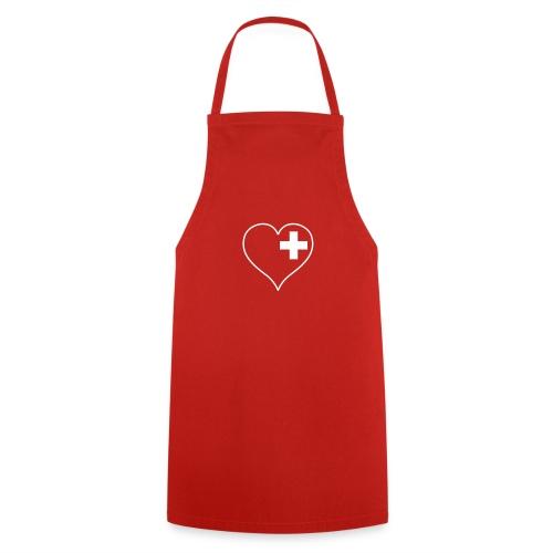 swiss heart white - Kochschürze