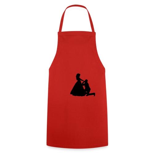 Kniender Mann vor Frau Prinzessin - Kochschürze