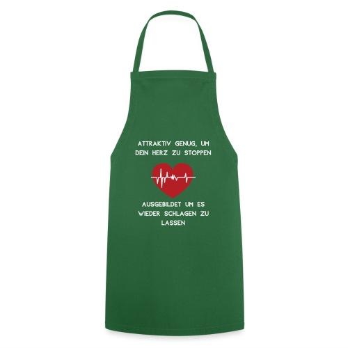 Herz stoppen Pflegekraft Attraktiv - Kochschürze
