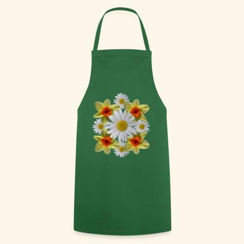 Narzissen Margeriten Osterglocken Blumen Blüten - Kochschürze