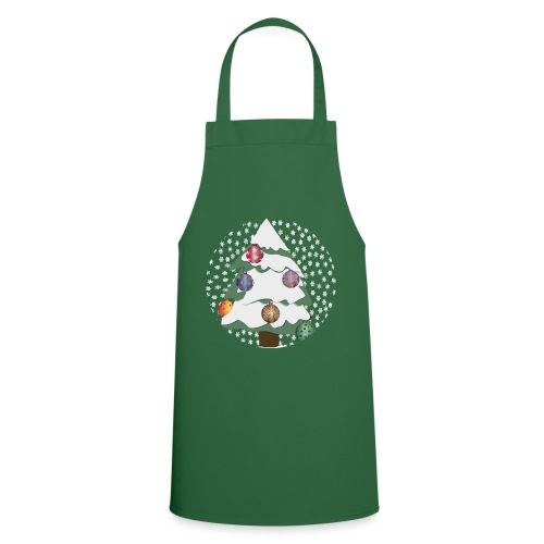 Christmas tree in snowstorm - Cooking Apron