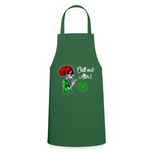 Chill old age, smoke weed everyday, vintage - Cooking Apron