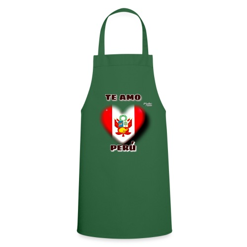 Te Amo Peru Corazon - Cooking Apron