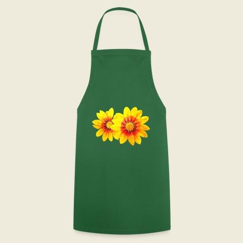 Leuchtende gelbe Blumen - Kochschürze