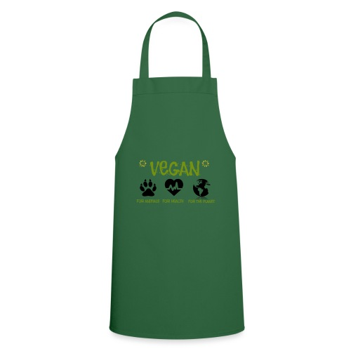 Vegan for animals, health and the environment. - Cooking Apron