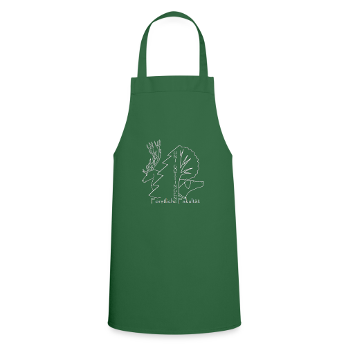 Weisses Fachschaftslogo Forst - Kochschürze
