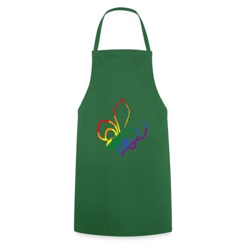 Pinselstrich Lilie Regebogenfahne - Kochschürze