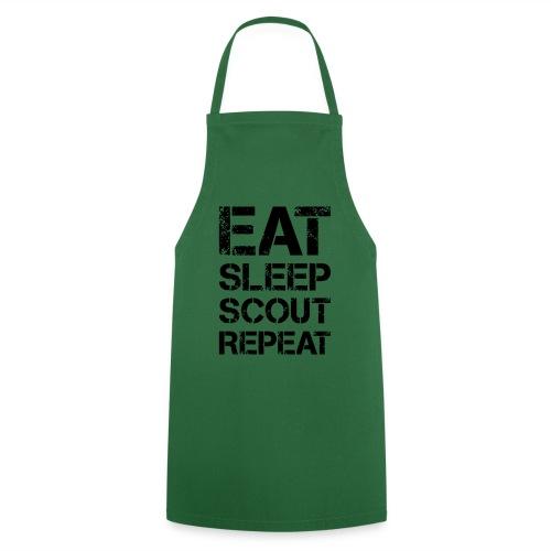 EAT SLEEP SCOUT REPEAT Kreide - Farbe frei wählbar - Kochschürze